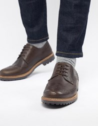 Red Tape Rydal Brogue Shoes Brown