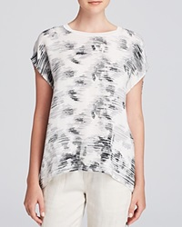 Vince Tee Marble Printed Silk Off White Black