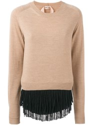 N 21 Nao21 Crew Neck Jumper Nude And Neutrals