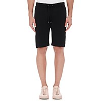 Barneys New York Men's French Terry Drawstring Shorts Black