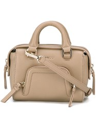 Dkny Mini Zip Pocket Tote Nude Neutrals