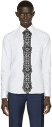 Burberry White Lace Trim Shirt