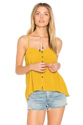 Blue Life Mohave Button Cami Mustard