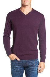 Rodd And Gunn Men's 'Inchbonnie' Wool Cashmere V Neck Sweater Mulberry