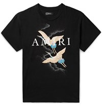 Amiri Logo Print Cotton Jersey T Shirt Black
