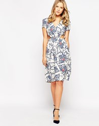 Love Floral Dress With Cut Out Waist Multi