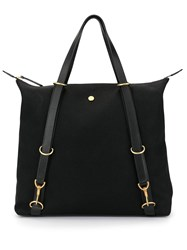 Mismo Strap Detail Tote Bag Black