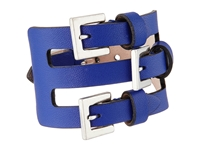 Alexander Mcqueen Multi Buckle Leather Cuff Bracelet