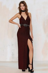 Nasty Gal Till The Glitter End Maxi Dress Red