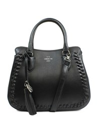 London Fog Whitby Vegan Leather Satchel Black