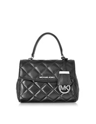 Michael Kors Ava Black Quilted Leather Xs Crossbody