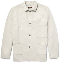 Chimala Slub Denim Shirt Jacket Off White