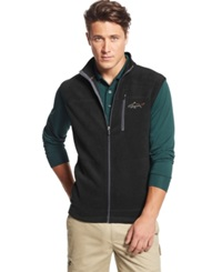 Greg Norman For Tasso Elba Big And Tall Five Iron Performance Fleece Golf Vest Only At Macy's Deep Black