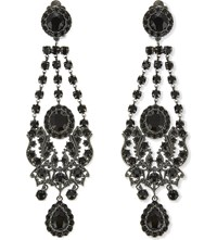 Givenchy Crystal Chandelier Clip On Earrings Black