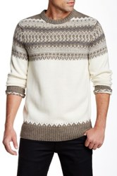 Bonobos Fair Isle Crew Neck Sweater Beige
