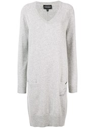 Emporio Armani Long Knitted Dress Grey