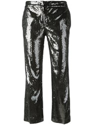 N 21 No21 Sequinned Cropped Trousers Black