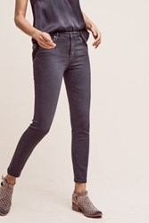 Anthropologie Ag Stevie Mid Rise Skinny Jeans Carbon