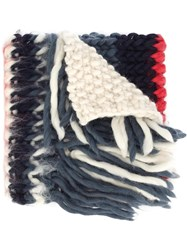 Christopher Raeburn 'X The Woolmark Company Hand Knit' Scarf White