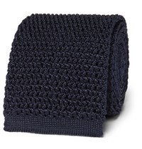 Tom Ford 7.5Cm Knitted Silk Tie Navy