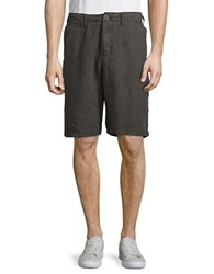 Lucky Brand Twill Flat Front Shorts Raven