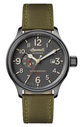 Ingersoll Watches Men's Apsley Automatic Nylon Strap Watch 45Mm Black Grey Gunmetal