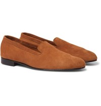 George Cleverley Hedsor Suede Loafers Tan