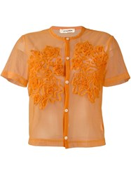Comme Des Garcons Vintage Fine Mesh Shortsleeved Shirt Yellow And Orange