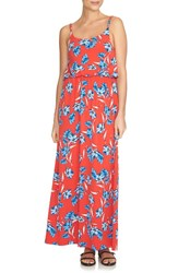 Women's Cece By Cynthia Steffe 'Floral Dance' Print Knit Maxi Sundress