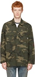 Facetasm Green Camo Stripe Jacket