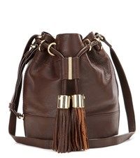 See By Chloe Vicki Small Leather Bucket Bag Brown