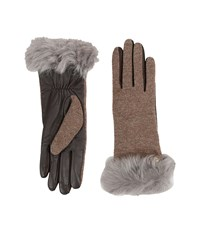 Ugg Smart Fabric Gloves W Toscana Trim Stormy Grey Multi Extreme Cold Weather Gloves Gray