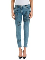 Moschino Package Print Skinny Jeans Denim