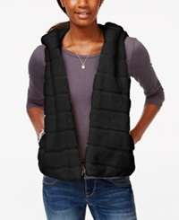 American Rag Hooded Faux Fur Vest Only At Macy's Classic Black