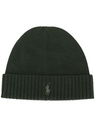 Polo Ralph Lauren Ribbed Knit Beanie Green