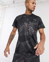 Puma Training All Over Logo T Shirt In Black