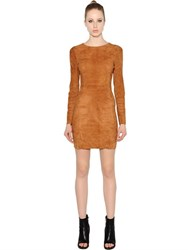 Drome Stretch Suede Mini Dress