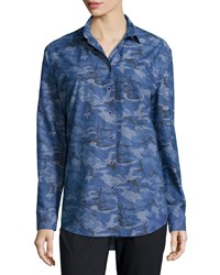Atm Anthony Thomas Melillo Atm Camouflage Boyfriend Shirt Royal Combo