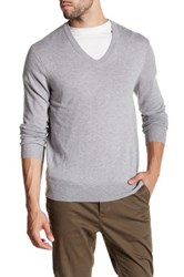 Qi V Neck Pullover Gray