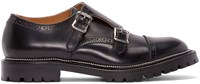 Kolor Black Leather Monkstrap Brogues