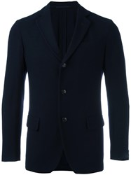 Massimo Piombo Mp Three Button Blazer Blue