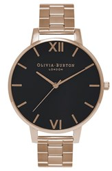 Olivia Burton Women's 'Big Dial' Bracelet Watch 38Mm Gold Black