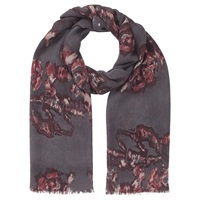 Jigsaw Rose Print Scarf Cranberry