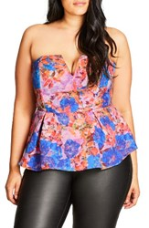 City Chic Plus Size Women's Strapless Top Orange