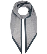 Loro Piana Twice Cashmere And Silk Scarf Grey