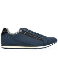 Versace Jeans Casual Sneakers Men Cotton Synthetic Resin Rubber 44 Blue