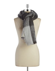 Lauren Ralph Lauren Oversized Knit Scarf Grey