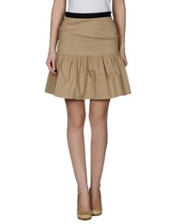 Moschino Cheap And Chic Moschino Cheapandchic Knee Length Skirts Beige