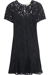 Michael Michael Kors Flared Lace Dress Blue