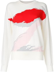 Ms Min Abstract Pattern Jumper White